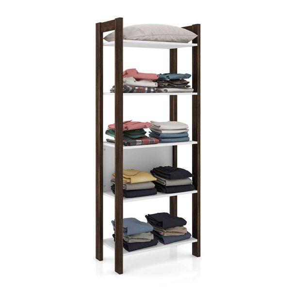 La estantería Florida cuenta con cinco estantes amplios que facilitan el almacenamiento, dos colores disponibles
