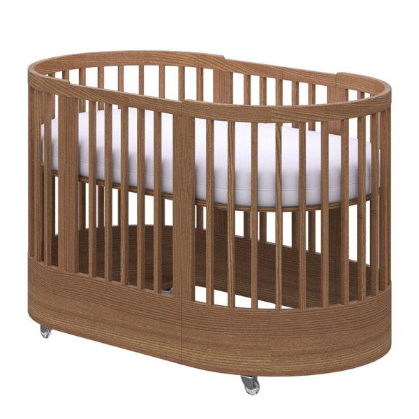 Cuna 3 en 1 ajustable a cama de los padres color miel