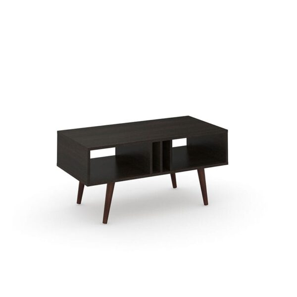 La mesa de centro México tiene un diseño moderno con compartimientos para elementos de uso frecuente