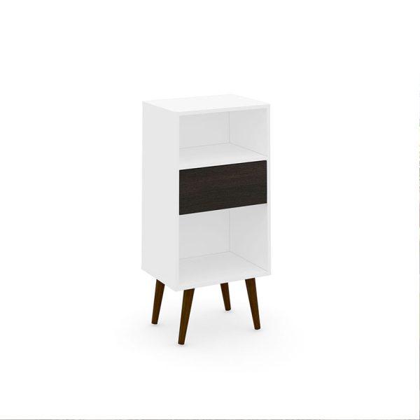 El estante Uruguay se ajusta a tres funcionalidades, su capacidad de almacenamiento es amplia y esta disponible en dos colores