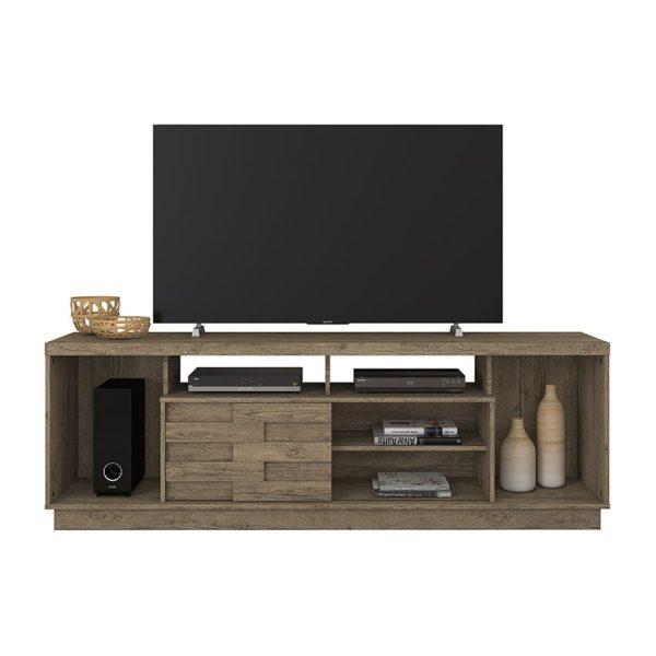 """La mesa de tv 65"""" Adria ofrece diferentes espacios de almacenamiento y decoración, siendo un mueble agradable y funcional"""