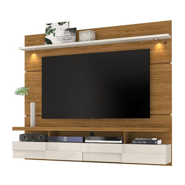 """El panel TV 60"""" Lana 1.8 con su diseño sofisticado resalta en el espacio donde se ubique e ilumina con sus luces LED"""