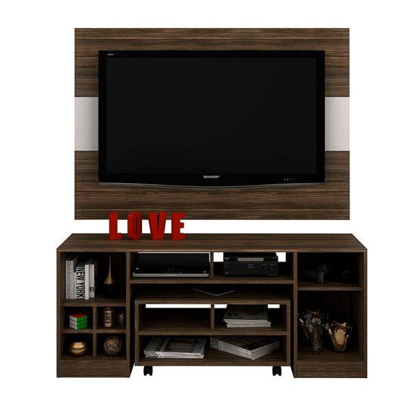 El combo de sala 3 piezas incluye panel de tv, mesa y mesa de centro.