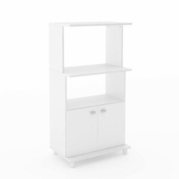 El mueble de cocina Victoria color blanco ofrece un gabinete inferior con amplios estantes superiores
