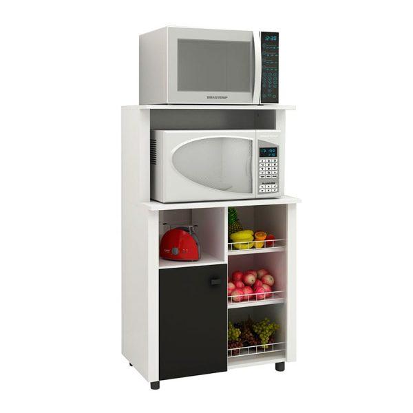 El mueble de cocina Burgos cuenta con seis compartimientos amplios y el estante superior para almacenar gran cantidad de elementos