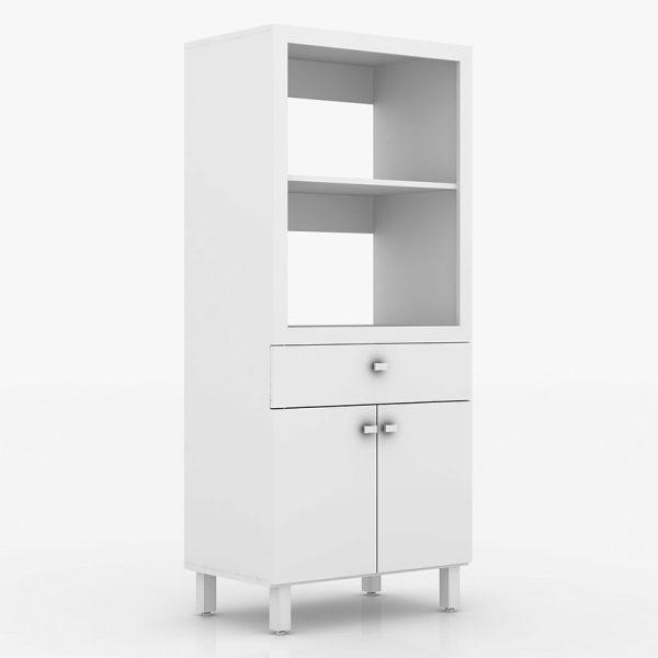 El mueble de cocina Pamplona cuenta con cuatro cajones y dos estantes, disponible en tres colores
