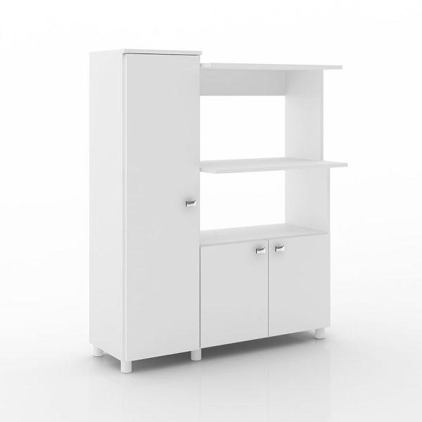 El mueble de cocina Segovia esta diseñado con seis módulos de almacenamiento, disponible en tres tonos diferentes