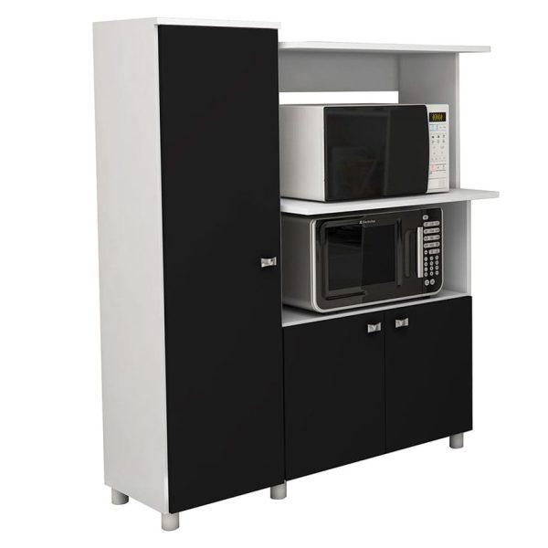 El mueble de cocina Segovia cuenta con seis compartimientos para facilitar el almacenamiento de alimentos o utensilios