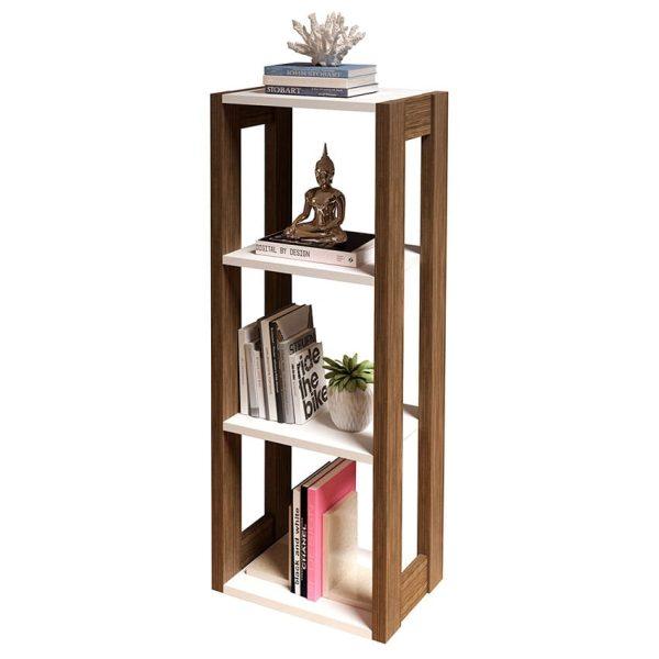 La repisa Toledo ofrece tres compartimientos amplios para almacenar o decorar elementos de oficina o del hogar