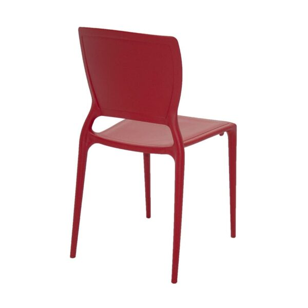Silla Sofia Tramontina Espaldar Cerrado Rojo 4