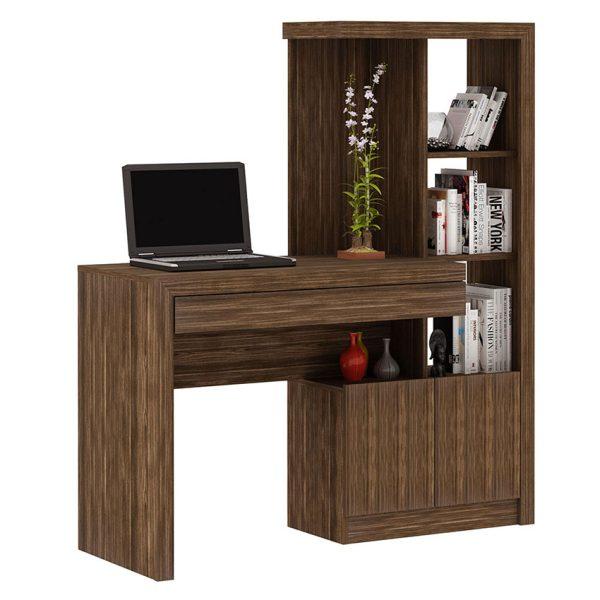 Escritorio biblioteca elaborado para el hogar y la oficina, para maximizar los espacios