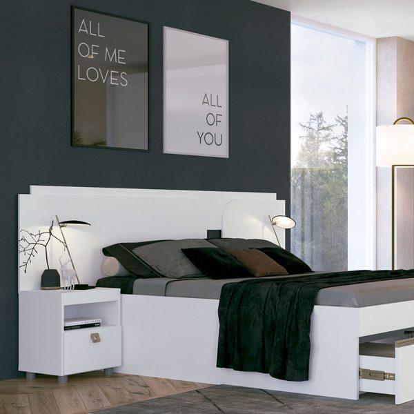 Cabecera doble con mesas de noche Charme ideal para amplia habitación