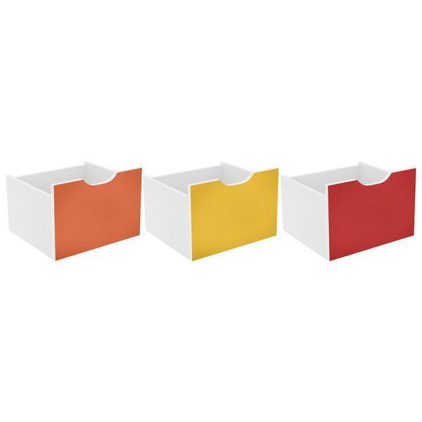 El kit 3 cajones Santos multicolor tiene varias opciones de uso y combinan con todas las decoraciones