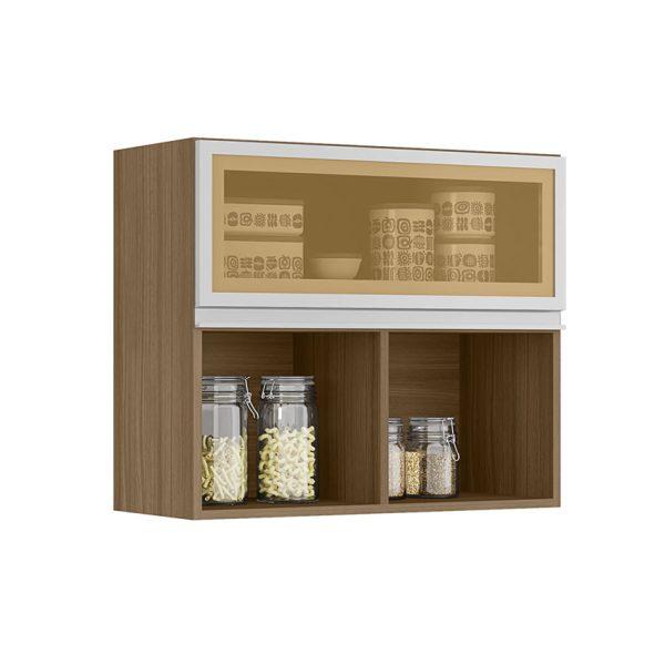 Mueble aéreo con tres estantes amplios que se ajustan a la oficina o el hogar. Disponible en dos colores