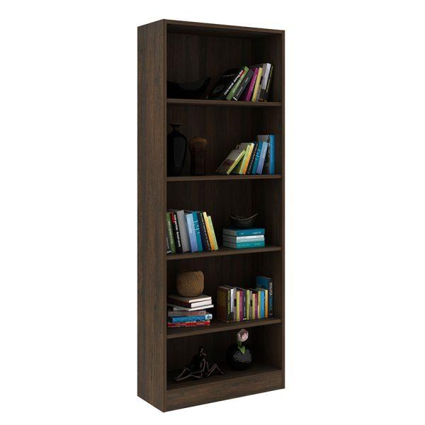 Mueble para biblioteca Rosana rústico de fácil armado