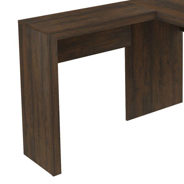 El escritorio Atenas esta diseñado en forma de L y cuenta con dos amplios cajones laterales