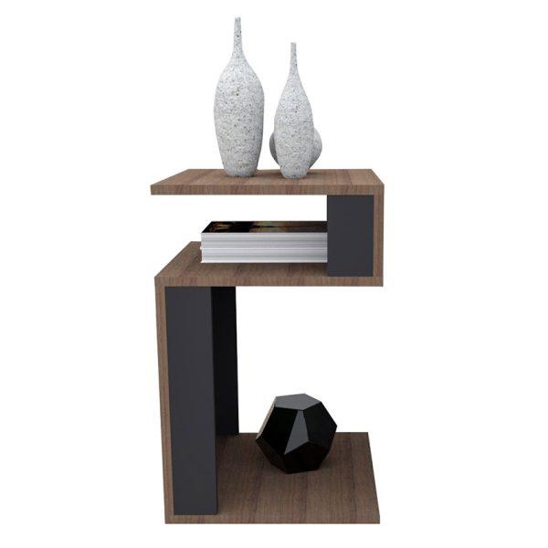 La mesa auxilliar Guadalupe combina el diseño con la funcionalidad permitiendo tener todo en orden y lucir agradable