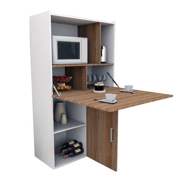 El mueble de cocina Fátima esta pensado para espacios reducidos ofreciendo su nivel máximo de funcionalidad