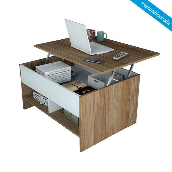 La mesa multiusos Chiquinquira es la fusión del mueble ideal pues es moderno, funcional y aprovecha cada espacio para almacenamiento