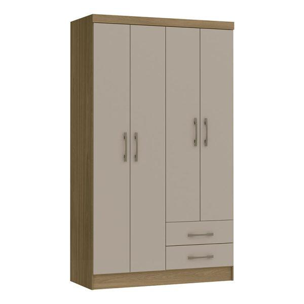 Closet 4 puertas diseño con amplio espacio de almacenamiento, disponible en cuatro diferentes colores