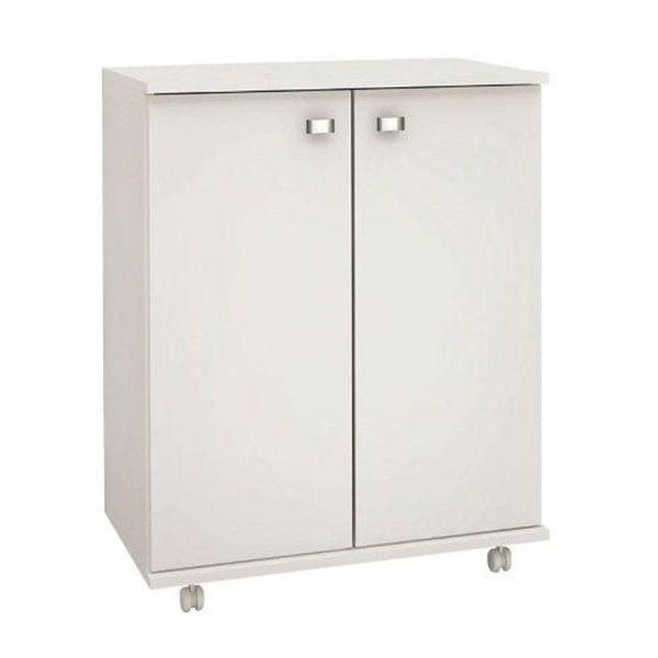 El mueble de cocina Bélgica cuenta con dos amplios estantes interiores con puerta, es un mueble de fácil desplazamiento