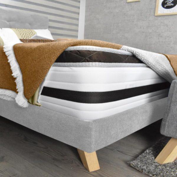 Set dormitorio doble con colchón color plata