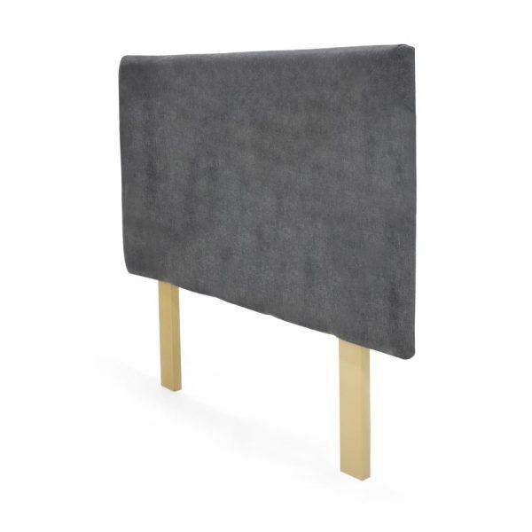 Cabecero Lombard de tela color gris
