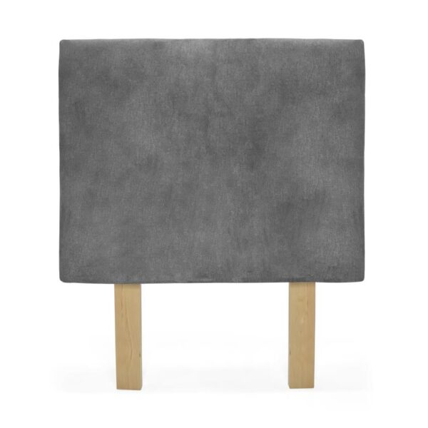 Cabecero sencillo con diseño capitoneado color gris