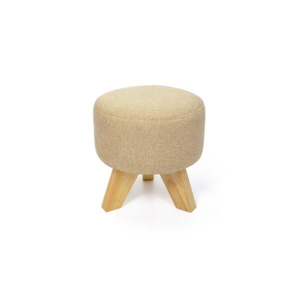 Puff en madera color trigo