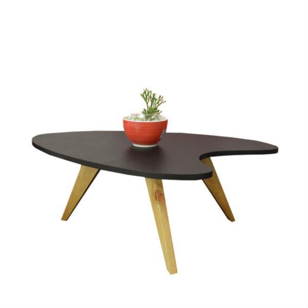 Mesa de centro en madera color wengue