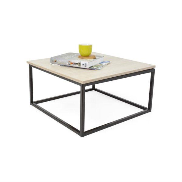 Mesa de centro en madera color duna/negro