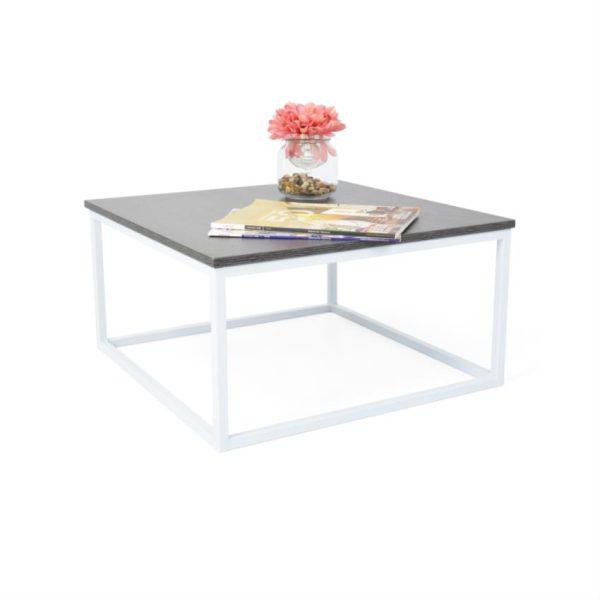 Mesa de centro en madera color wengue/blanco