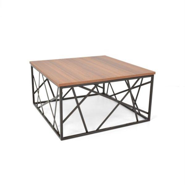 Mesa de centro en madera color pigneto