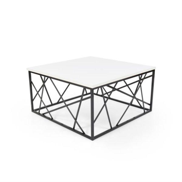 Mesa de centro en madera color blanco/negro