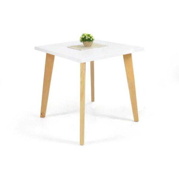 Mesa de comedor en madera blanca