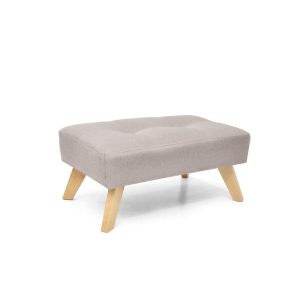 Puff en madera color taupe