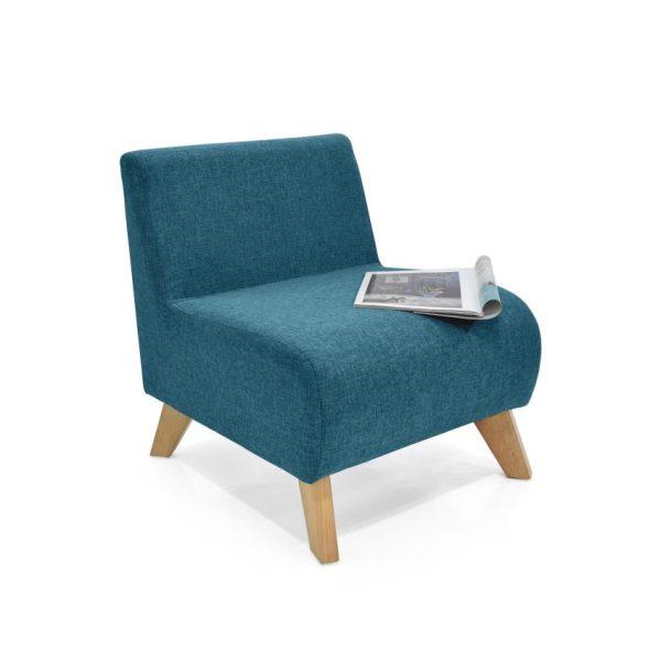 Poltrona en madera color azul