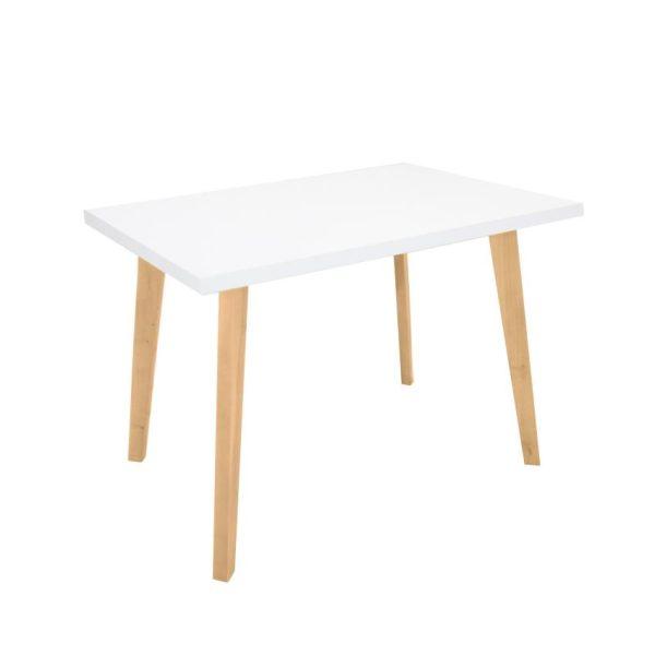 Mesa comedor en madera color blanco