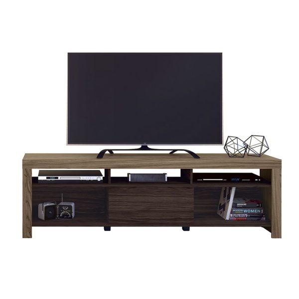 """La mesa de tv 65"""" Dora ofrece un diseño funcional con cinco compartimientos y sistema de fijación girofix"""