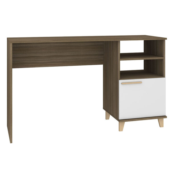 escritorio para el hogar u oficina de color café blanco