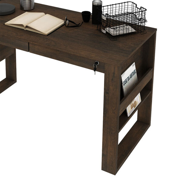 Combo de escritorio con dos cajones y silla con ruedas