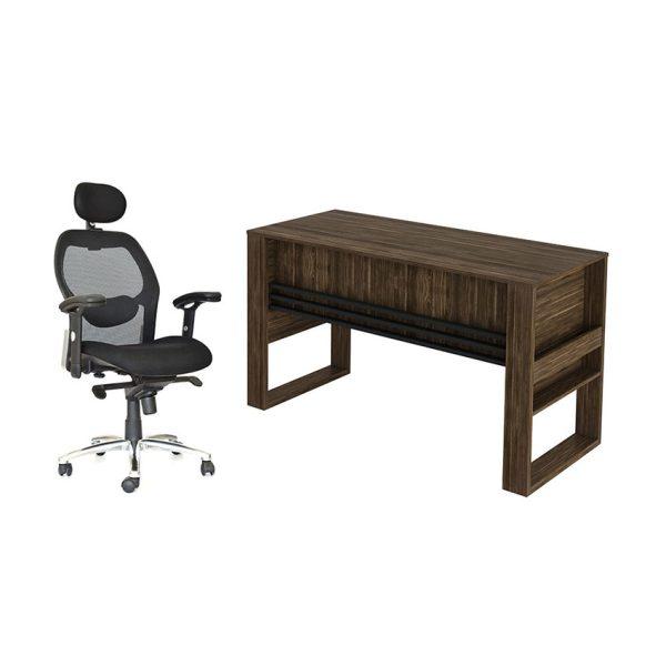 Combo de escritorio con sillón ideal para tener comodidad mientras se trabaja