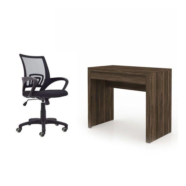 Combo escritorio con amplio cajón más silla ideal para trabajar desde casa