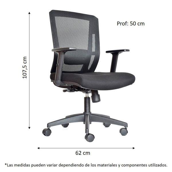 Combo de escritorio con tres cajones y una silla con ruedas que se ajusta a cualquier espacio del hogar u oficina