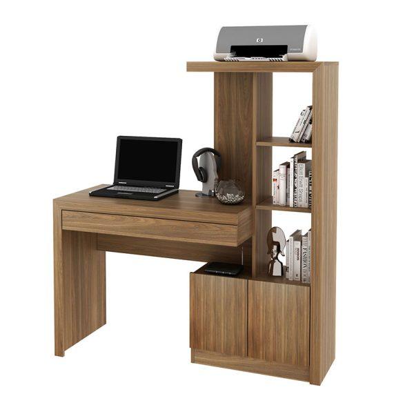Optimiza los espacios de tu hogar con un escritorio y biblioteca en el mismo lugar