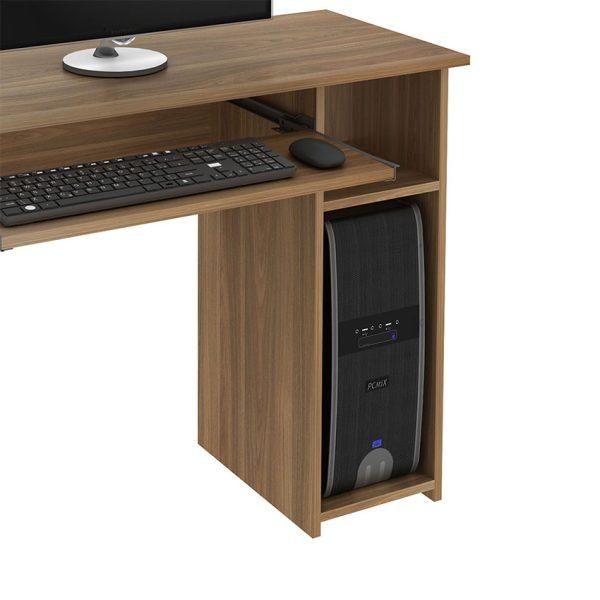 Escritorio con espacio para ubicar el teclado y cpu