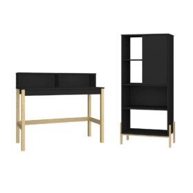 combo ideal para la oficina o el hogar que incluye estante y escritorio