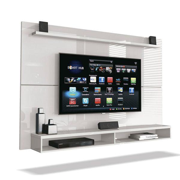 Panel de tv con diseño minimalista, que soporta un televisor de hasta 60''
