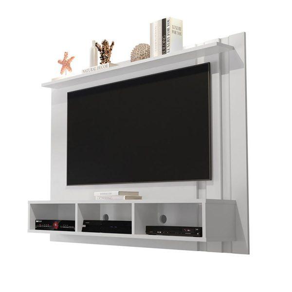 """Panel de televisión con repisa y tres compartimientos ideal para un televisor de 48"""""""