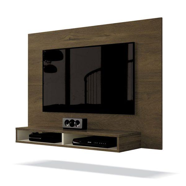 Panel con diseño sencillo y dos compartimientos para objetos electrónicos